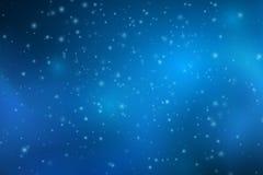 Luces azules que caen abstractas Polvo azul mágico y resplandores Cielo estrellado Fondo que brilla intensamente Nubes que brilla libre illustration