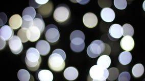 Luces blancas del centelleo al bokeh metrajes