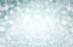 Luces blancas y grises del bokeh. fondo defocused Foto de archivo libre de regalías