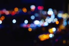 Luces borrosas de la ciudad de la noche Foto de archivo