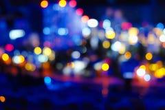 Luces borrosas de la ciudad de la noche Imagen de archivo