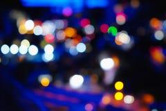 Luces borrosas de la ciudad de la noche Fotografía de archivo libre de regalías