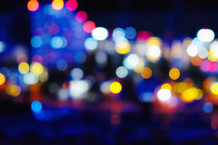 Luces borrosas de la ciudad de la noche Imagen de archivo libre de regalías