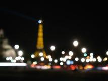 Luces borrosas de la ciudad, París Fotografía de archivo libre de regalías