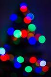 Luces borrosas 2 del árbol de navidad Fotografía de archivo libre de regalías