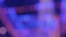 Luces borrosas del partido del color almacen de metraje de vídeo