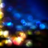 Luces borrosas del vector Imagen de archivo libre de regalías
