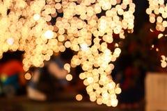 Luces borrosas, efecto de Boken Foto de archivo