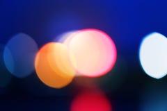 Luces borrosas extracto de la ciudad Imagen de archivo libre de regalías