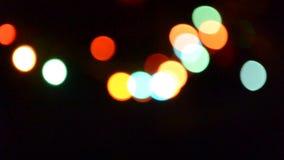 Luces borrosas fondo colorido del bokeh de las luces de Bokeh almacen de metraje de vídeo