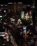 Luces brillantes de Las Vegas, nanovoltio Foto de archivo libre de regalías