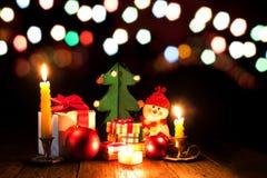 Luces brillantes en el ` s Eve del Año Nuevo Fotos de archivo libres de regalías