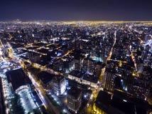 Luces 03 céntricos de la ciudad de la noche Imagen de archivo libre de regalías