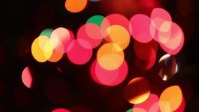 luces circulares del centelleo borrosas intencionalmente almacen de metraje de vídeo