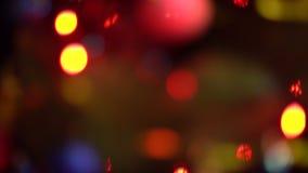 Luces coloridas abstractas del centelleo almacen de metraje de vídeo