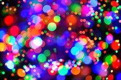 Luces coloridas de la celebración Imagen de archivo libre de regalías