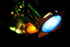 Luces coloridas de la etapa Fotos de archivo libres de regalías