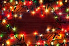 Luces coloridas de la Navidad fotos de archivo libres de regalías