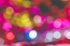Luces coloridas del bokeh de la Navidad Imagen de archivo