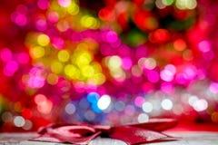 Luces coloridas del bokeh de la Navidad Imagenes de archivo