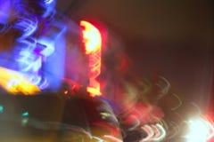 Luces coloridas enmascaradas de la noche en Miami Beach Imagen de archivo