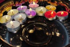 Luces coloridas flotantes del té Imagen de archivo