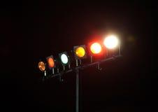 Luces coloridas para el programa de la danza Imagen de archivo