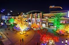 Luces coloridas por Año Nuevo Imagen de archivo