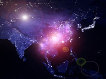 Luces de Asia Imágenes de archivo libres de regalías