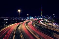 Luces de Auckland y del rastro Foto de archivo