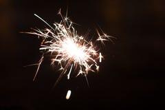 Luces de Bengala, fondo de la chispa Tiempo de la Navidad, Año Nuevo Fotografía de archivo