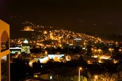 Luces de Bogotá de la noche Foto de archivo libre de regalías