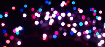 Luces de Bokeh de la Navidad Fotografía de archivo libre de regalías