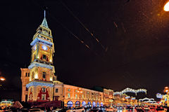 Luces de calle de la Navidad de St Petersburg Imagen de archivo
