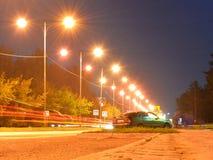 Luces de calle de la noche imagen de archivo