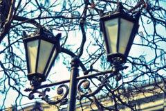 Luces de calle decorativas 014 fotografía de archivo libre de regalías