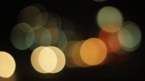 Luces de calle desenfocado almacen de metraje de vídeo