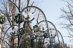 Luces de calle en Krupowki en Zakopane Imágenes de archivo libres de regalías