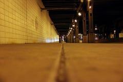 Luces de calle en una acera en Chicago Illinois foto de archivo libre de regalías