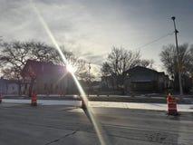 Luces de cielo del invierno imagenes de archivo