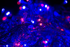 Luces de Cristmas Foto de archivo libre de regalías