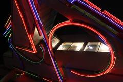 Luces de Greektown Imagenes de archivo