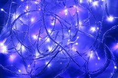 Luces de hadas de la Navidad Imagen de archivo libre de regalías