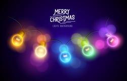 Luces de hadas de la Navidad Fotos de archivo libres de regalías