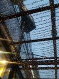 Luces de hadas de la Navidad en forma de una red Imágenes de archivo libres de regalías