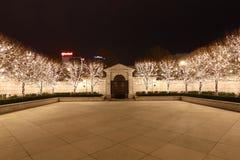 Luces de hadas en patio Imágenes de archivo libres de regalías