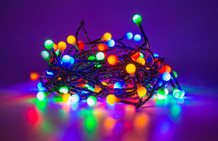 Luces de hadas llevadas imágenes de archivo libres de regalías