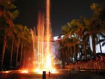 Luces de Hong-Kong con la pantalla olográfica imagen de archivo libre de regalías