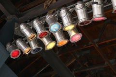 Luces de Klieg Foto de archivo libre de regalías