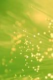 Luces de la óptica de fibras Fotografía de archivo libre de regalías